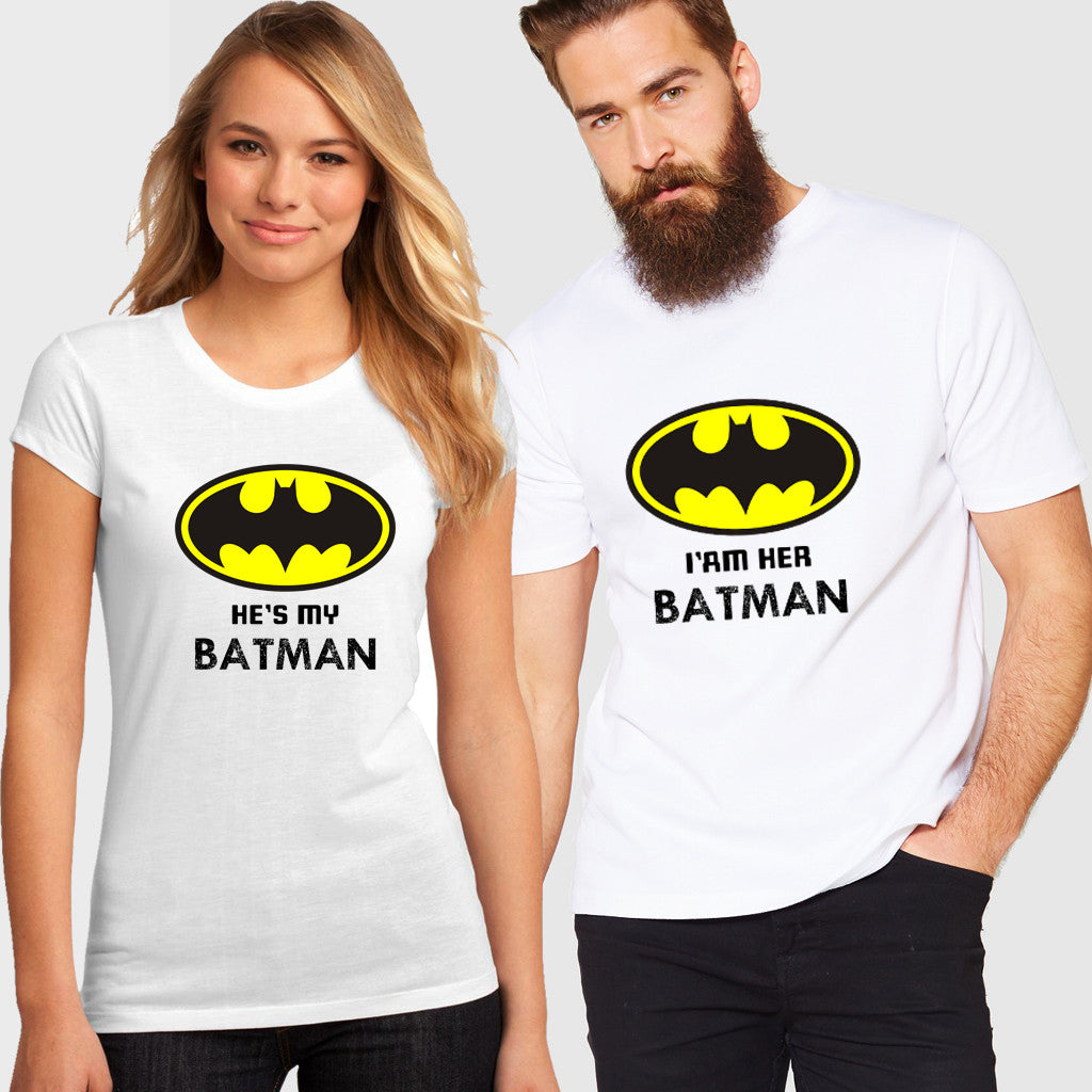 Fashion Bar Batman Couple T-shirt