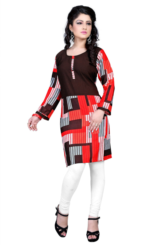 Axar fashion red color beautiful fancy kurti(AR_nidhi_red)