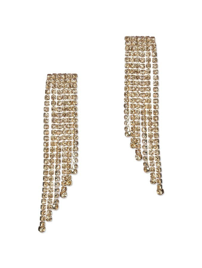 Glorius Golden Chain Earring