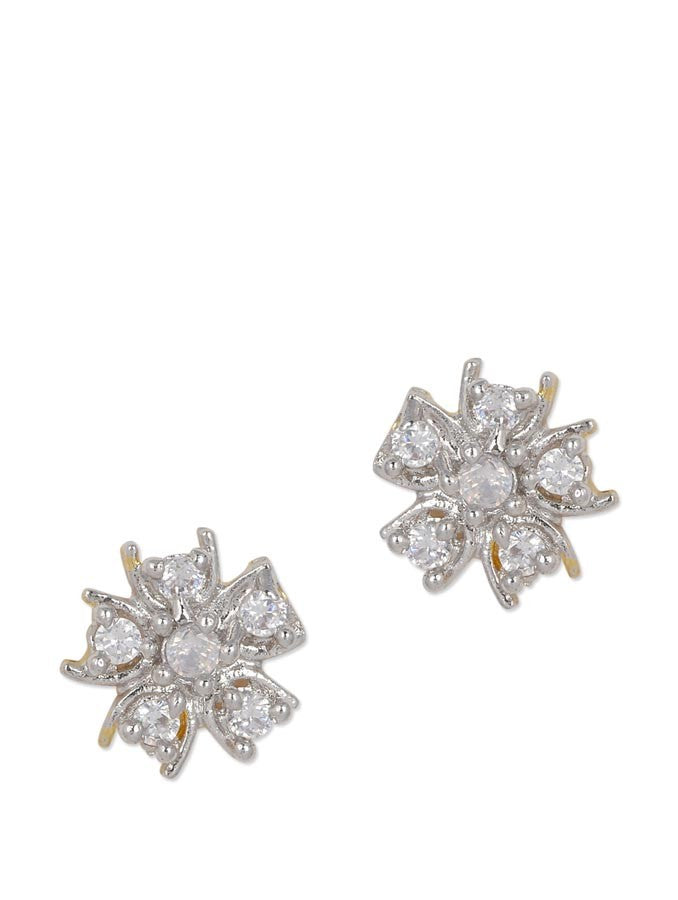 Exclusive AD Studded Floral Earring