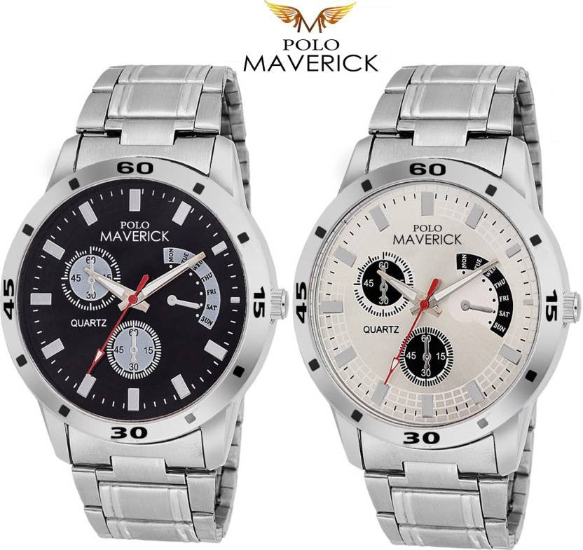 POLO MAVERICK Stylish Watch Pack of 2