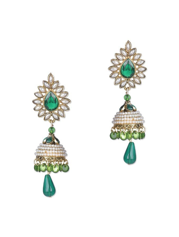Marvelous Green Pearl Earring