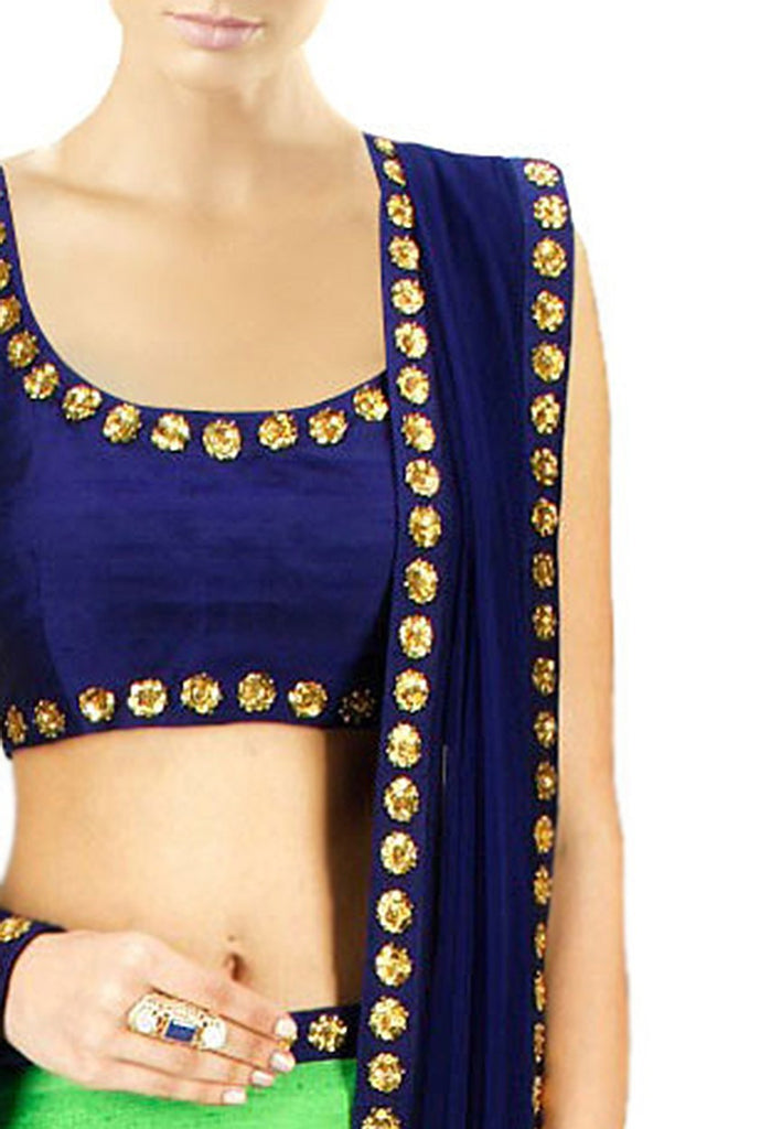 Axar fashion multi color semistitched lehenga choli(AR_rainbow_blue)