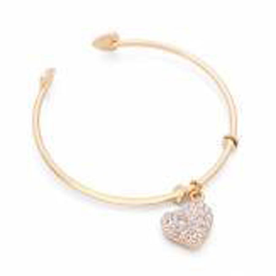 Drills Hollow Heart Pendant Bracelets Gold Plated