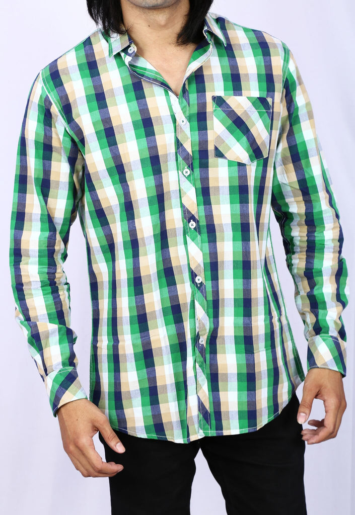 Taka Apparels Green Casual Shirt