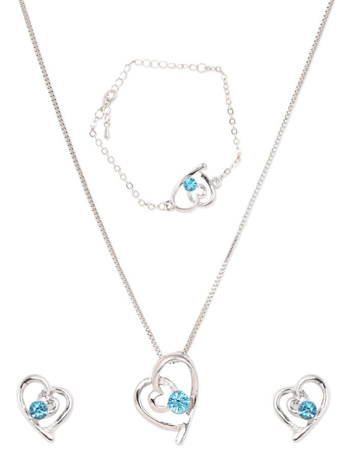 White Gold Plated Austrian Crystal Necklace Set