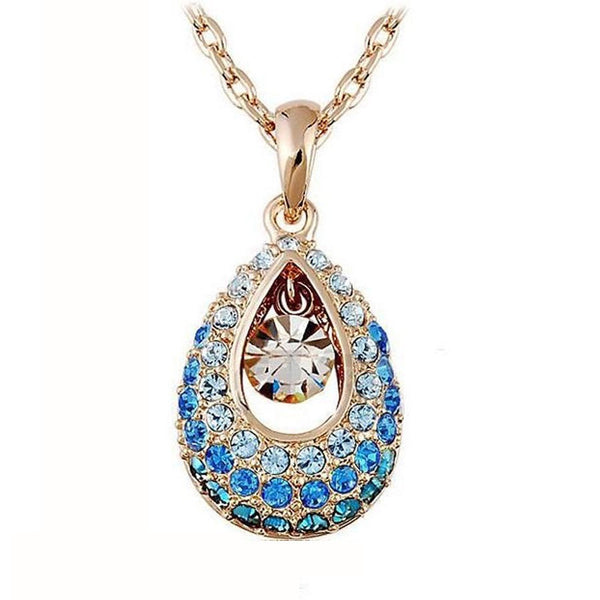 Angel Tears Crystal Rhinestone Necklace