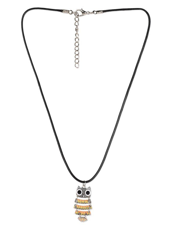 Cut Owl Colorful Necklace