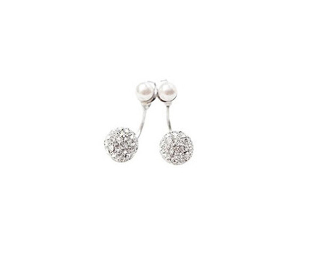 Rhinestone Beads Drop Earring