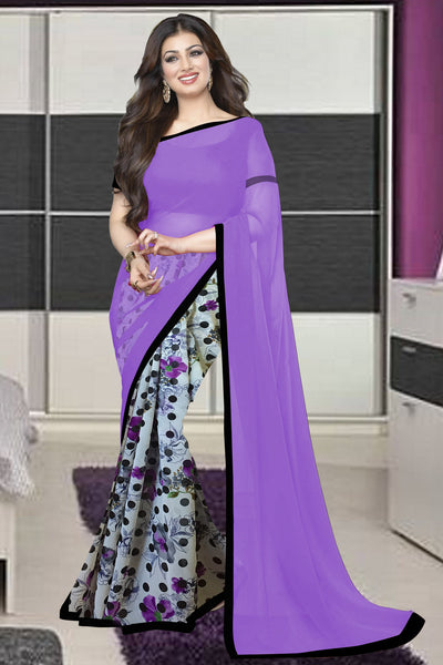 wama fashion latest designer purple colour saree(TZ_jasmine)