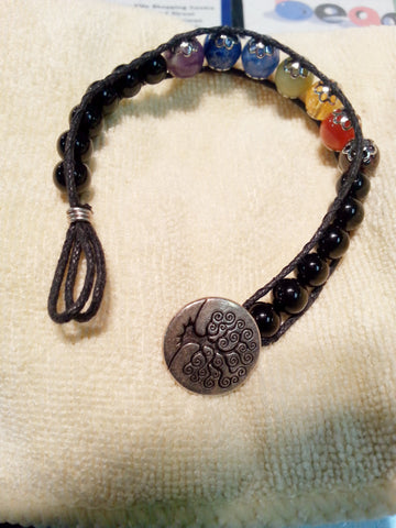 Healing Chakra Bracelet with tree of life