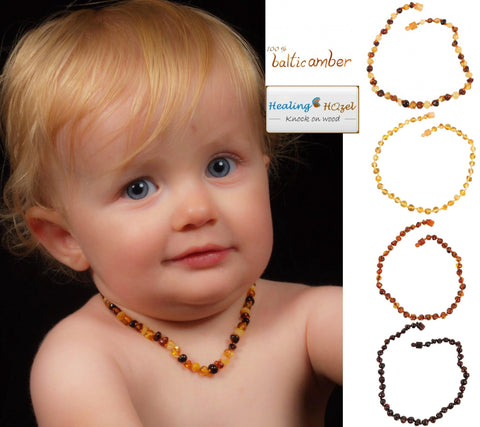 Healing Amber teething necklaces