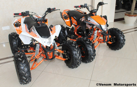 venom 125cc premium madix atv orange black white and orange atv sport 125 atv