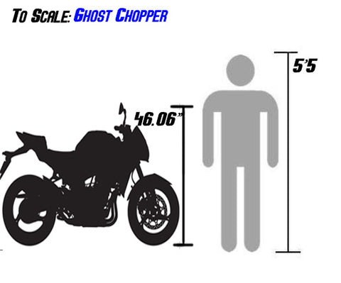 ghost chopper 250cc sizing scale with person df250rtr