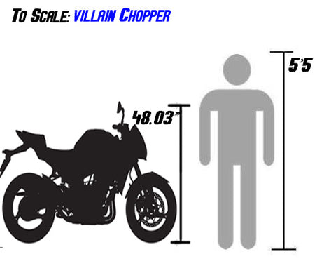 250cc Villain Chopper size sizing for the 250cc df250rtf size