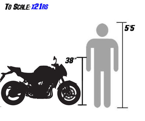 x21rs sizing scale with person x21r x21 rs BD125-8 size VENOM X21RS 125cc