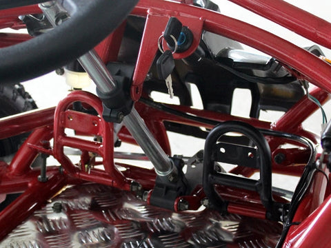 gas pedals on 80cc go kart from dongfang motor crt moto