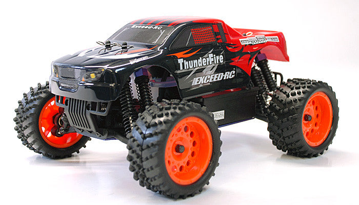 Exceed RC ThunderFire Nitro Gas Powered 1/16 2.4Ghz RTR Off Road Truck Sava Red - Venom Motorsports