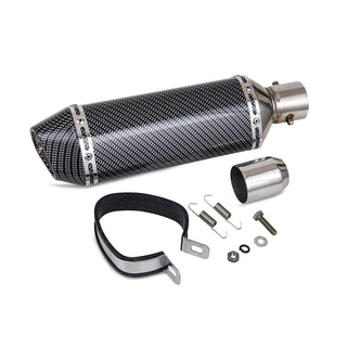 "Carbon Fiber Painted 1.5-2""Inlet Exhaust Muffler with Removable DB Killer"