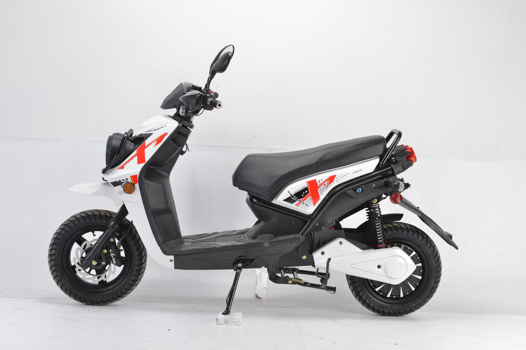 Boom 2000w 72v Electric Moped Scooter BD576Z side view white