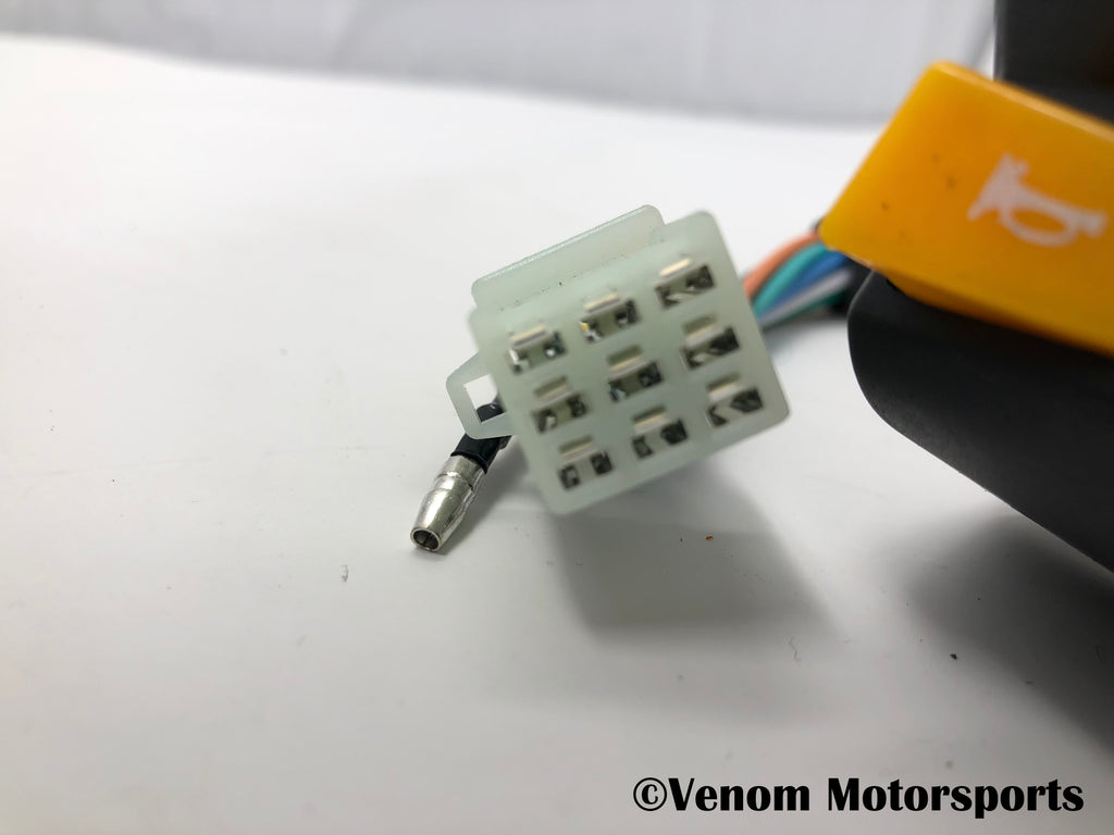 Replacement Left Side Control Switch + Choke | Venom 125cc Motorcycles