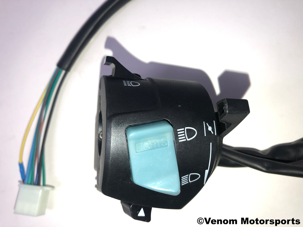 Replacement Left Side Control Switch | Venom 50cc Fatboy
