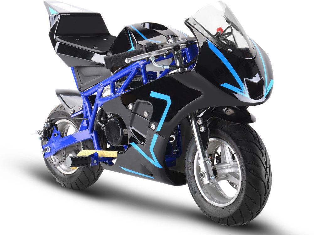 33cc 2-Stroke Premium Pocket Bike - M3 BLUE