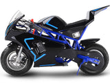 33cc 2-Stoke Premium Pocket Bike - M3 BLUE