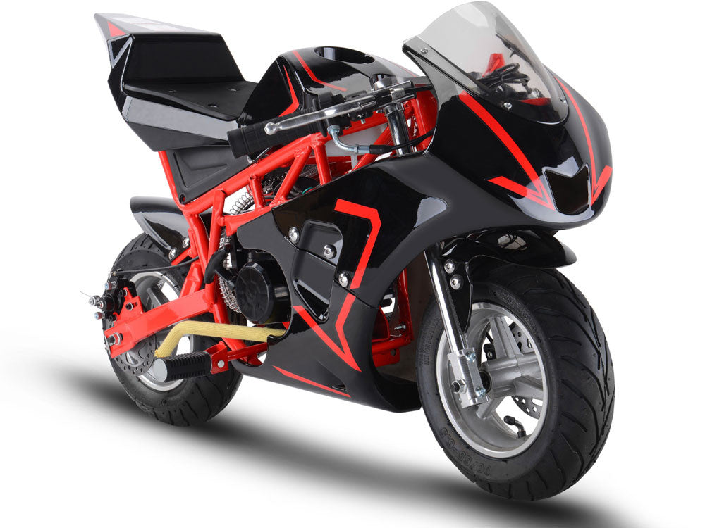 33cc 2-Stroke Premium Pocket Bike - M3 RED