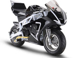 33cc 2-Stoke Premium Pocket Bike - M3 WHITE
