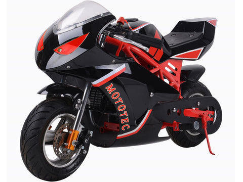 49cc 2-Stoke Premium Pocket Bike - M1 RED