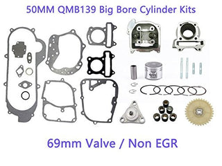 50mm 100cc Big Bore Kits 139QMB For 50cc Engines 69mm Valve - x18 + Venom Cruiser - Venom Motorsports