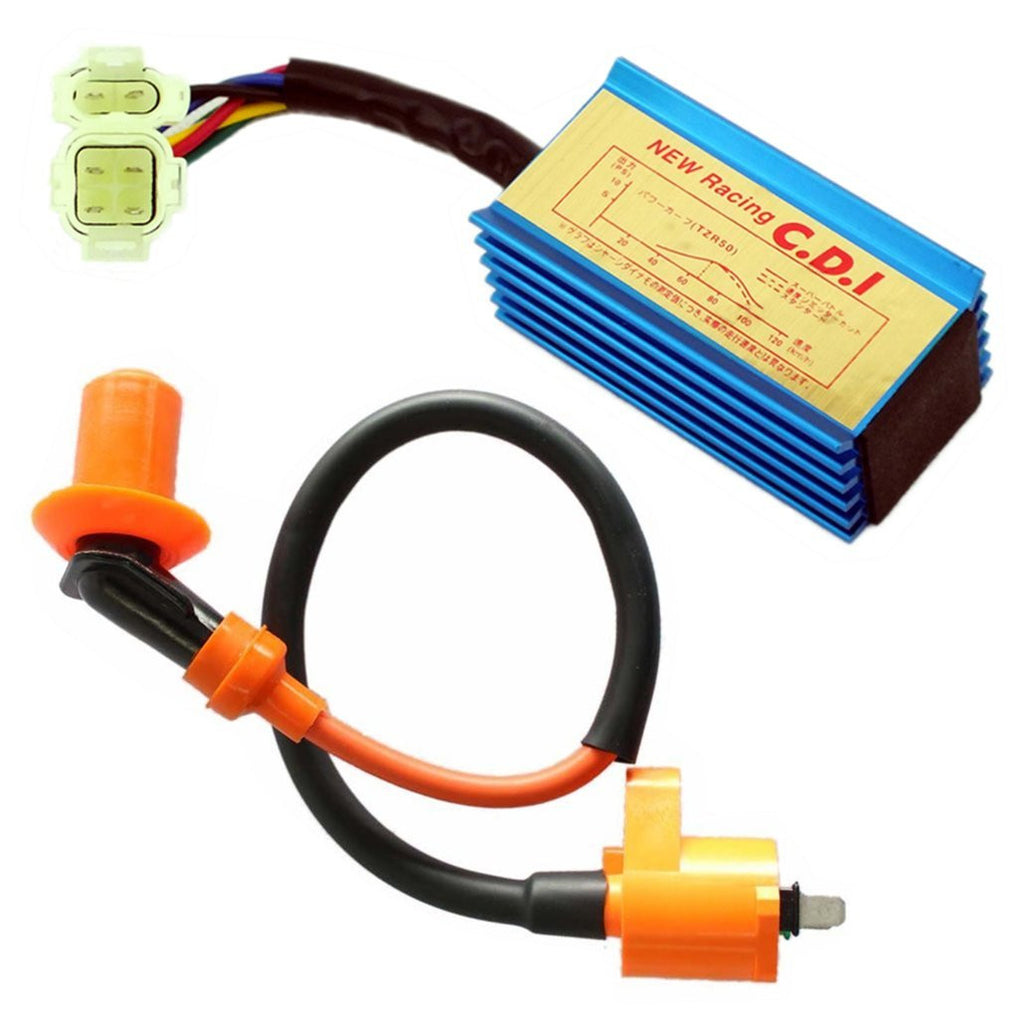 High Performance Racing Ignition Coil + CDI AC GY6 50cc - 110cc 125cc 150cc  4-stroke Engines Scooter ATV Go Kart Moped Quad Pit Dirt Bike