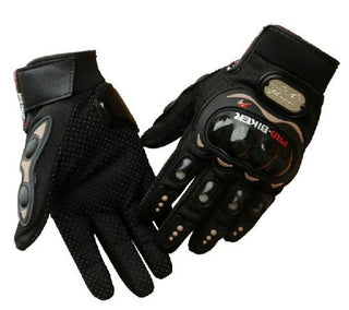 Carbon Fiber Pro-Biker Bicycle Motorcycle Motorbike Powersports Racing Gloves - Venom Motorsports