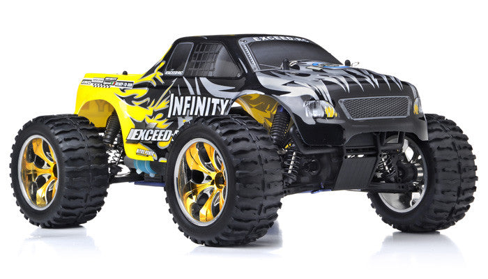 Exceed RC Infinitve Nitro Gas Powered Off Road Monster 1/10 2.4Ghz 4WD - Venom Motorsports   - 4