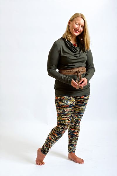 Leggings Long - Earth Print
