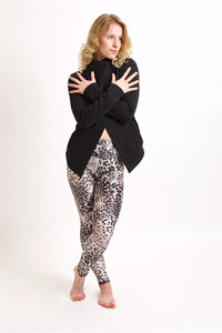 Leggings long - Snow leopard