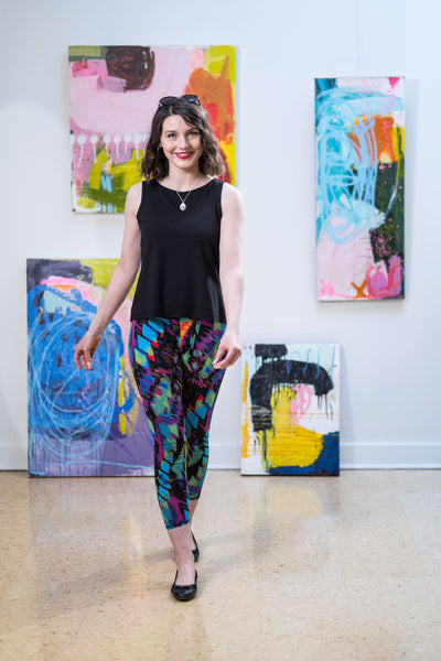 legging long - bold print