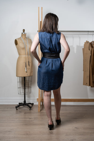 Panama dress - tencel denim