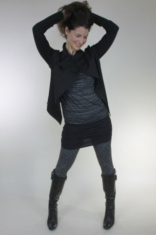 Alina jacket, Ella top, Bekka bum wrapper, legging