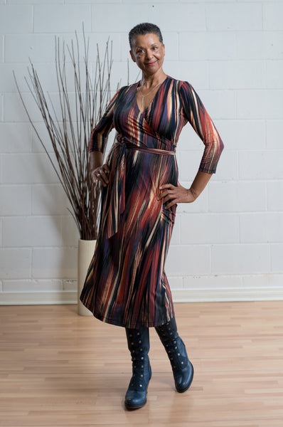 Bodil Midi Dress - abstract print