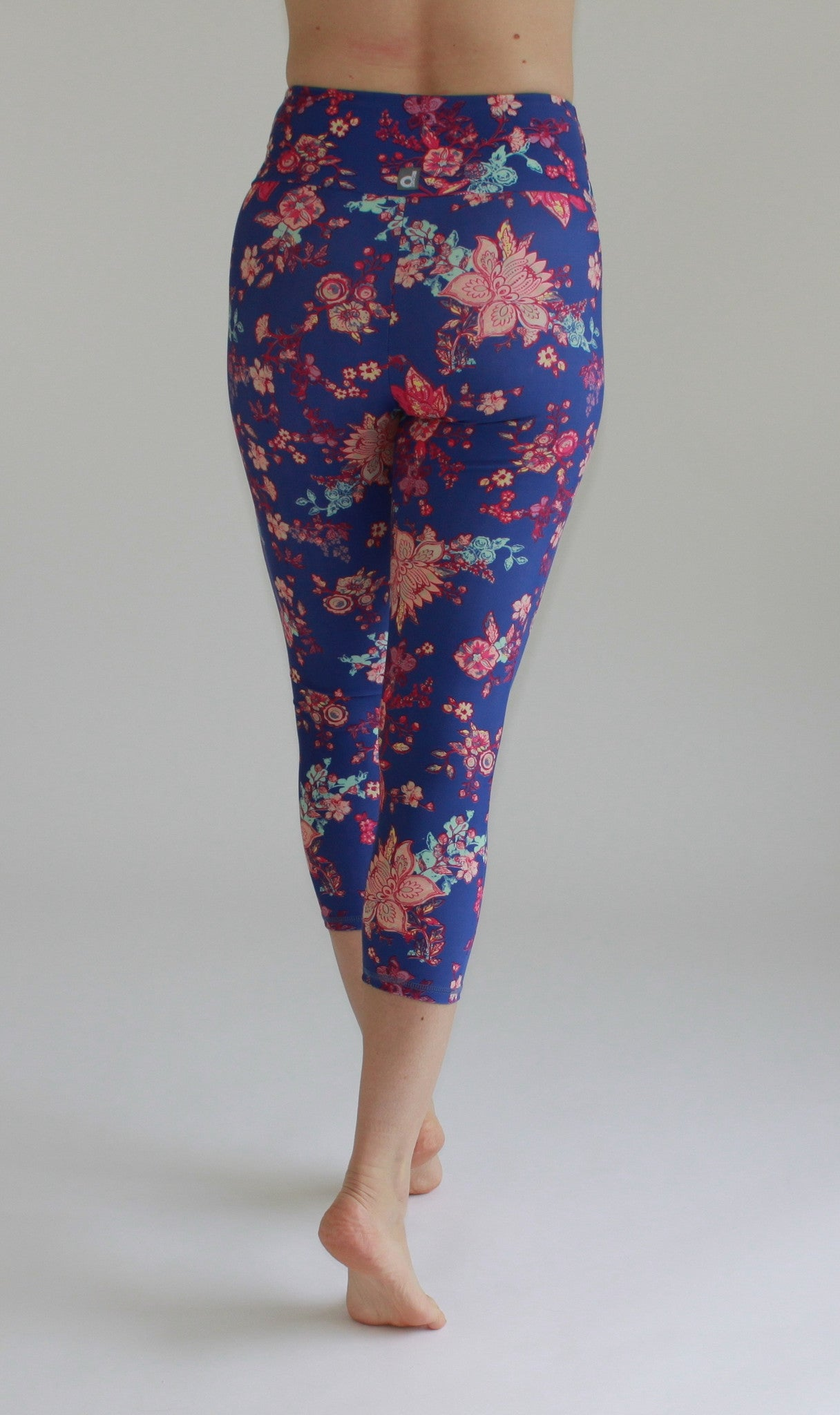 High-Waisted cropped Leggings Floral Print