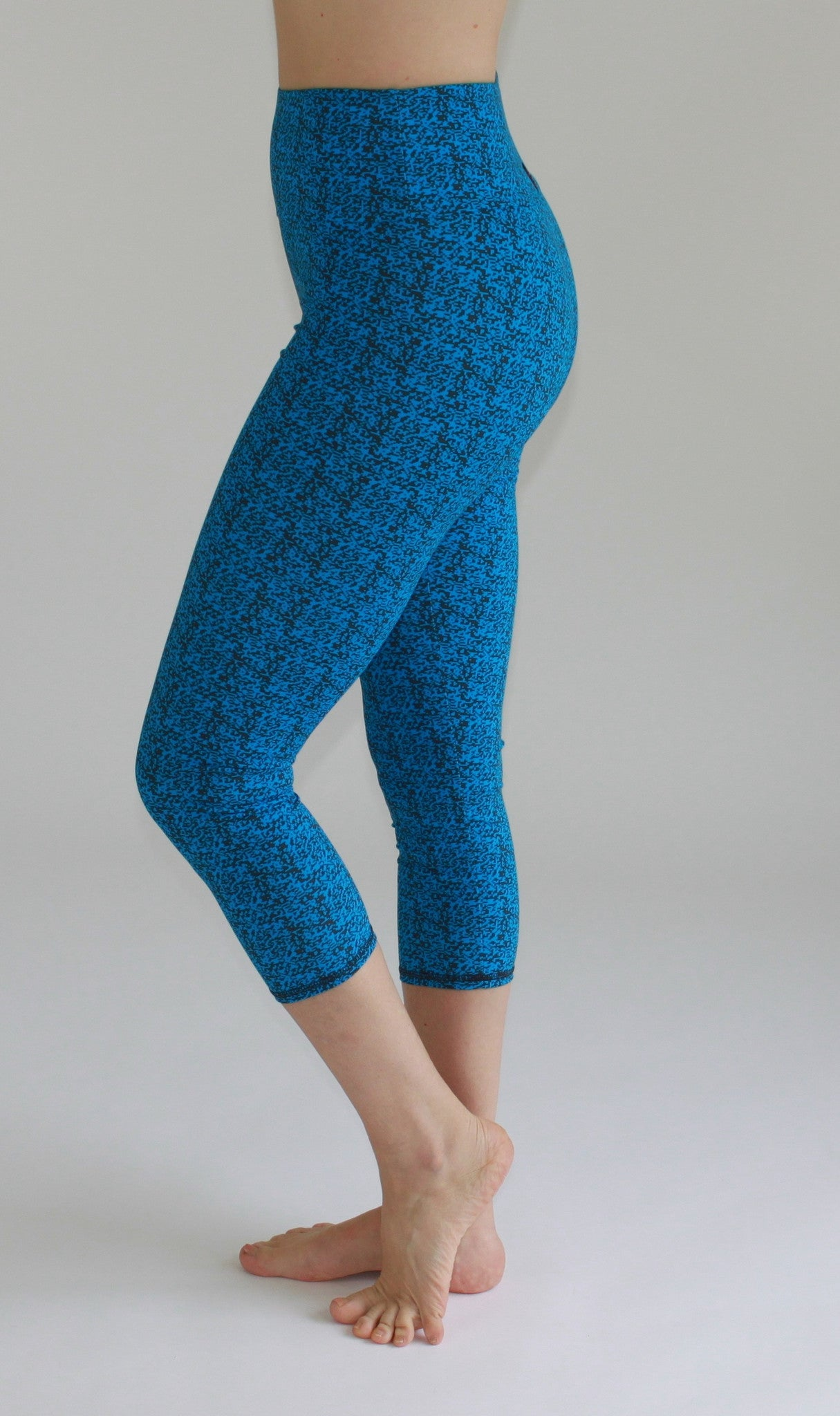 High-Waisted cropped Leggings Minecraft Print