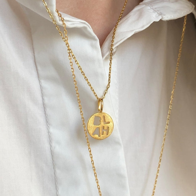 LULU Copenhagen BLAH Pendents Gold Plated