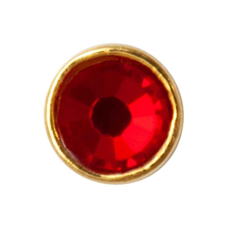 LULU Copenhagen BLING 1 PCS - CRYSTAL Ear stud, 1 pcs Red