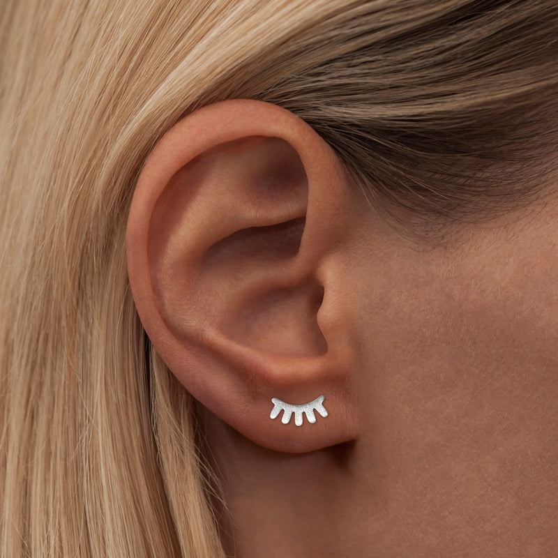 LULU Copenhagen BLINK 1 PCS - BRUSHED Ear stud, 1 pcs Silver