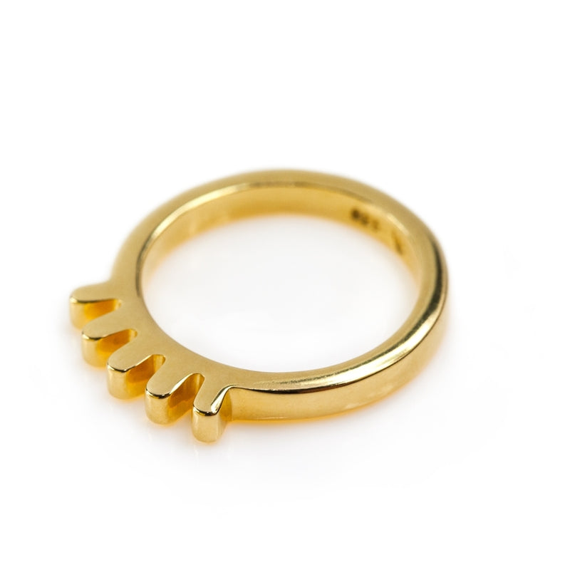 LULU Copenhagen BLINK RING Rings Gold Plated
