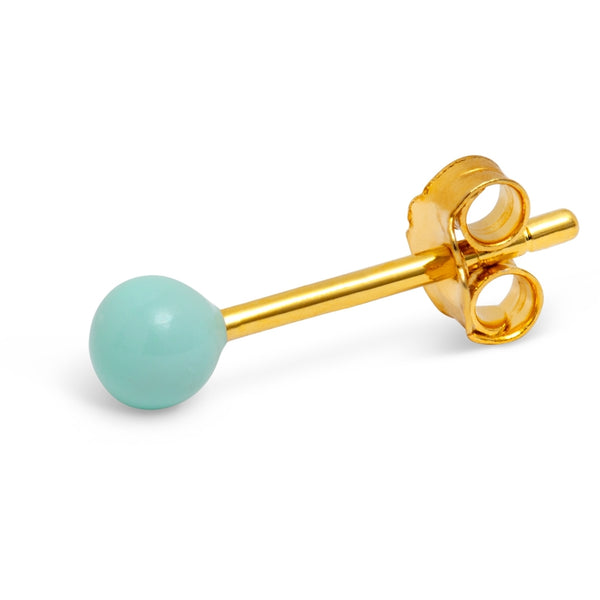 LULU Copenhagen COLOR BALL 1 PCS - ENAMEL Ear stud, 1 pcs Mint
