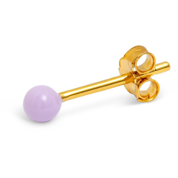 LULU Copenhagen COLOR BALL 1 PCS - ENAMEL Ear stud, 1 pcs Purple