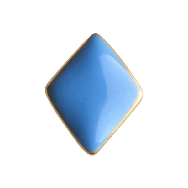 LULU Copenhagen CONFETTI 1 PCS - GOLD PLATED Ear stud, 1 pcs Light Blue